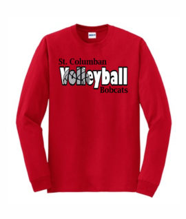 Red Long Sleeve T-Shirt Volleyball Inside