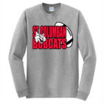 Sport Grey Long Sleeve T-Shirt Bobcat In Football