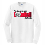 White Long Sleeve Adult T-Shirt Basketball Inside