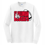 White Long Sleeve T-Shirt Bobcat In Football