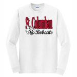 White Long Sleeve T-Shirt Bobcat Bobcats