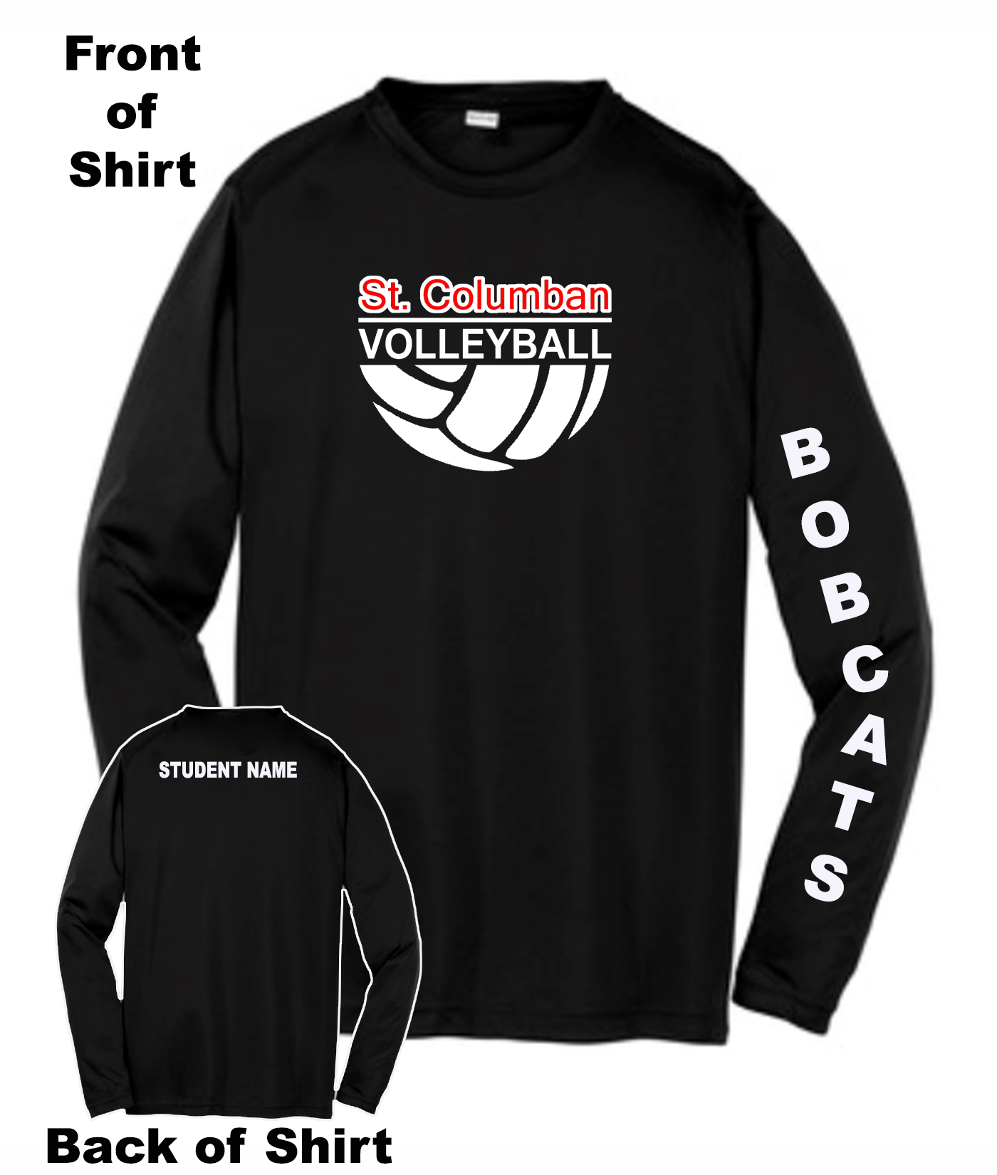 Bobcats Volleyball Warm Up Shirts