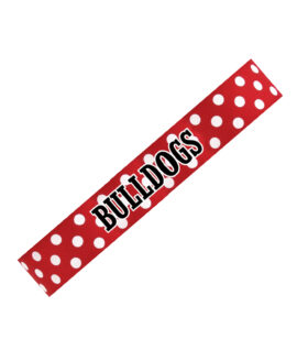 Headband Polka Dot Red Bulldogs