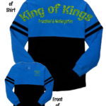 KOK Pom Pom Jersey Royal/Black GLITTER