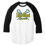 LM Lacrosse 3_4 Sleeve ST205 White Black Tee Green Yellow