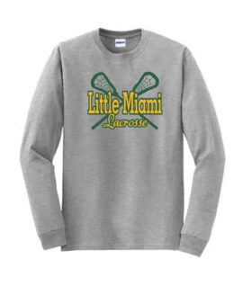 LM Lacrosse Long Sleeve Grey Tee Green Yellow
