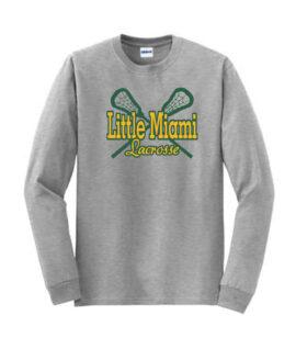 LM Lacrosse Long Sleeve Grey Tee Green Yellow