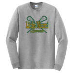 LM Lacrosse Long Sleeve Grey Tee Green Yellow GLITTER