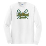 LM Lacrosse Long Sleeve White Tee Green Yellow GLITTER