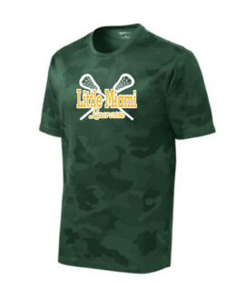 LM Lacrosse ST370 Green Camo Tee Green Yellow