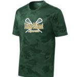 LM Lacrosse ST370 Green Camo Tee Green Yellow GLITTER