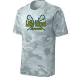 LM Lacrosse ST370 White Camo Tee Green Yellow GLITTER
