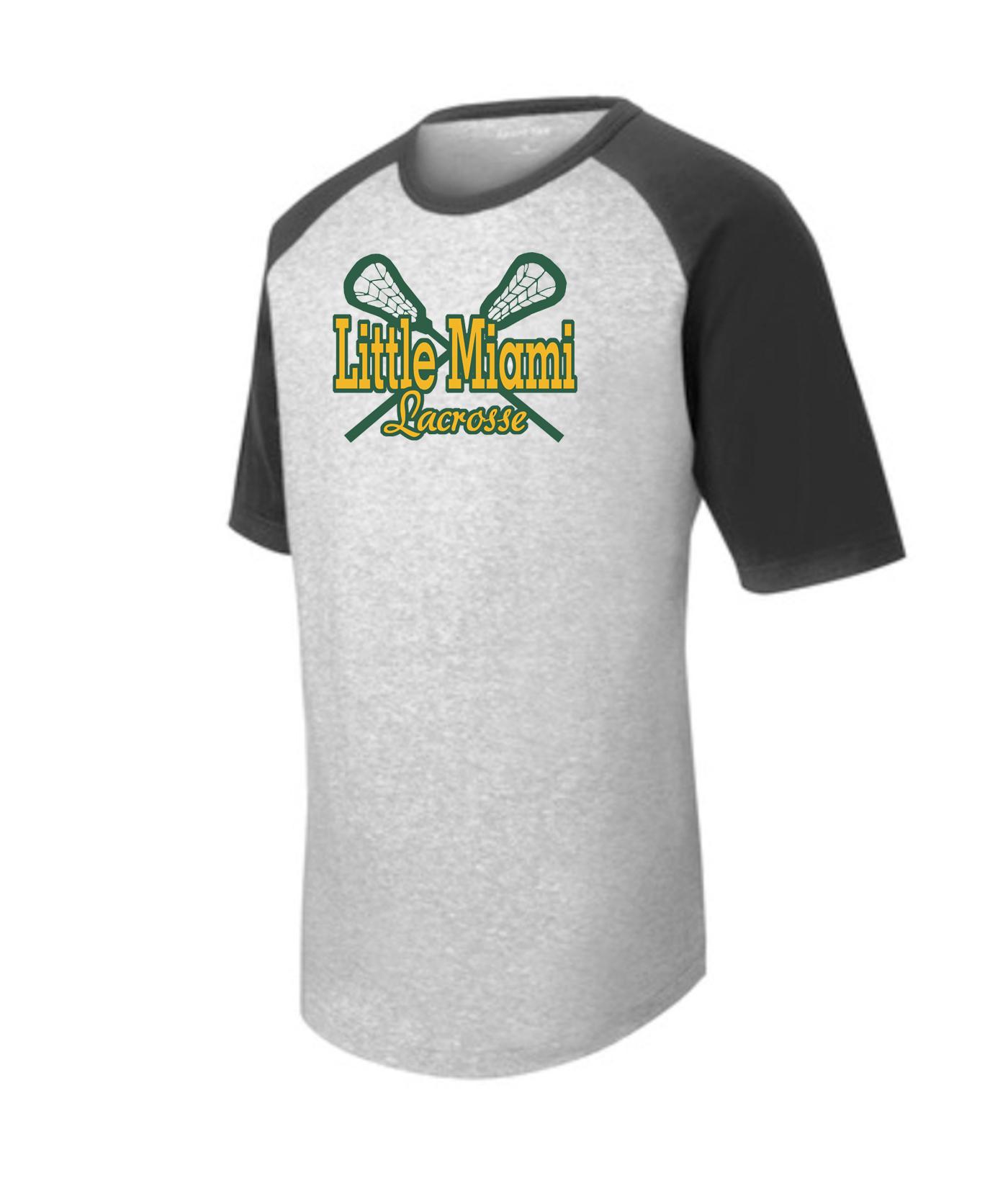 LM Lacrosse T201 Grey Black Tee Green Yellow