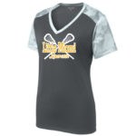 LST371 Ladies Whte Performance Camo Tee