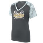LST371 Ladies Whte Performance Camo Tee GLITTER