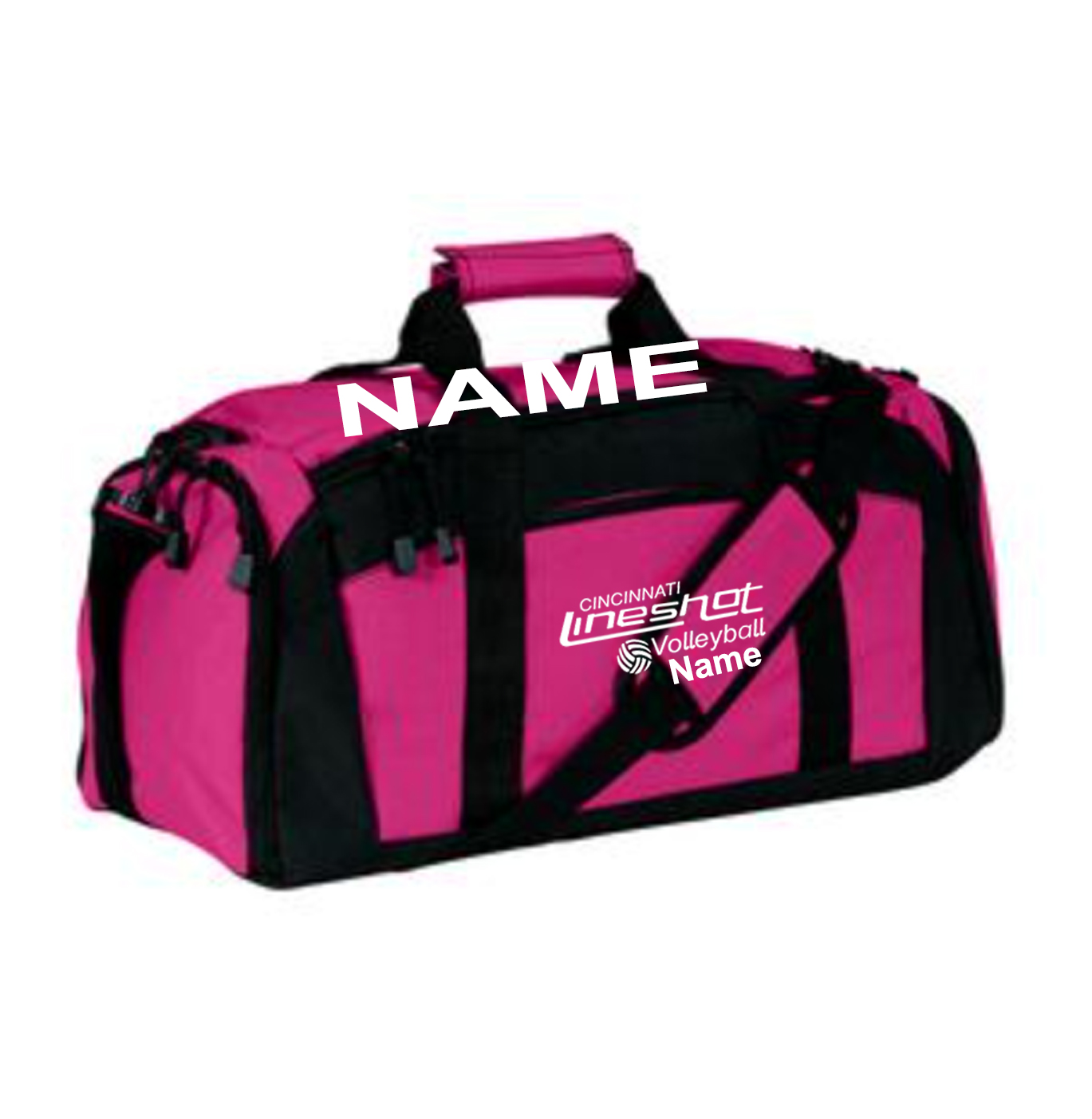 Pink Duffle Bag with Waterproof Shoe Pocket