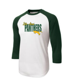 LM Panther 3_4 Sleeve ST205 White Green Tee Green Yellow