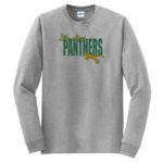 LM Panther Long Sleeve Grey Tee Green Yellow GLITTER