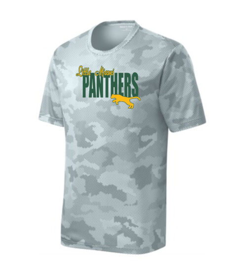 LM Panther ST370 White Camo Tee Green Yellow