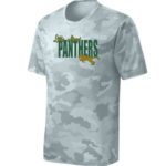LM Panther ST370 White Camo Tee Green Yellow GLITTER