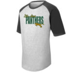 LM Panther T201 Grey Black Tee Green Yellow GLITTER