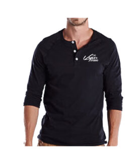07779US Black Henley