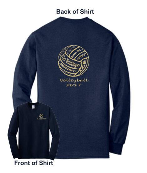 2017 Volleyball Shooting Shirt Long Sleeve