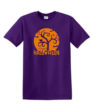 Orange Halloween Moon Purple Tee