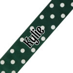 Dark Green Polka Dot Print