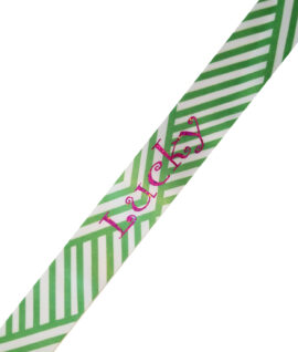 Green Criss Cross Lucky Pink