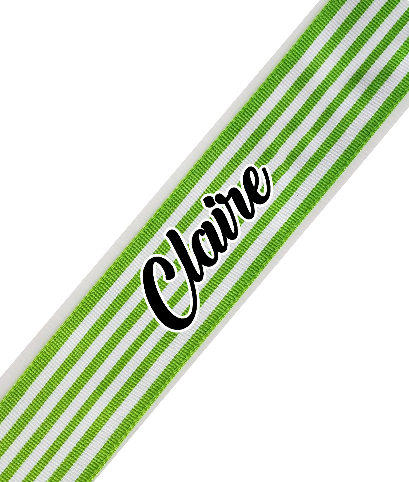 Green Stripe Cursive