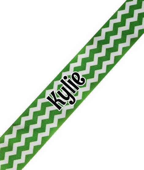 Green Zig Zag Print