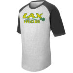 LAX T201 Short Sleeve Raglan LAX Mom Large Stick