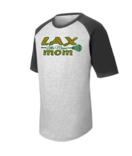 LAX T201 Short Sleeve Raglan LAX Mom Large Stick_Glitter