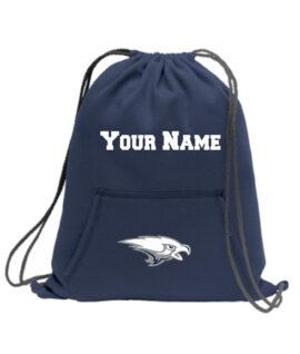 Navy Cinch Bag