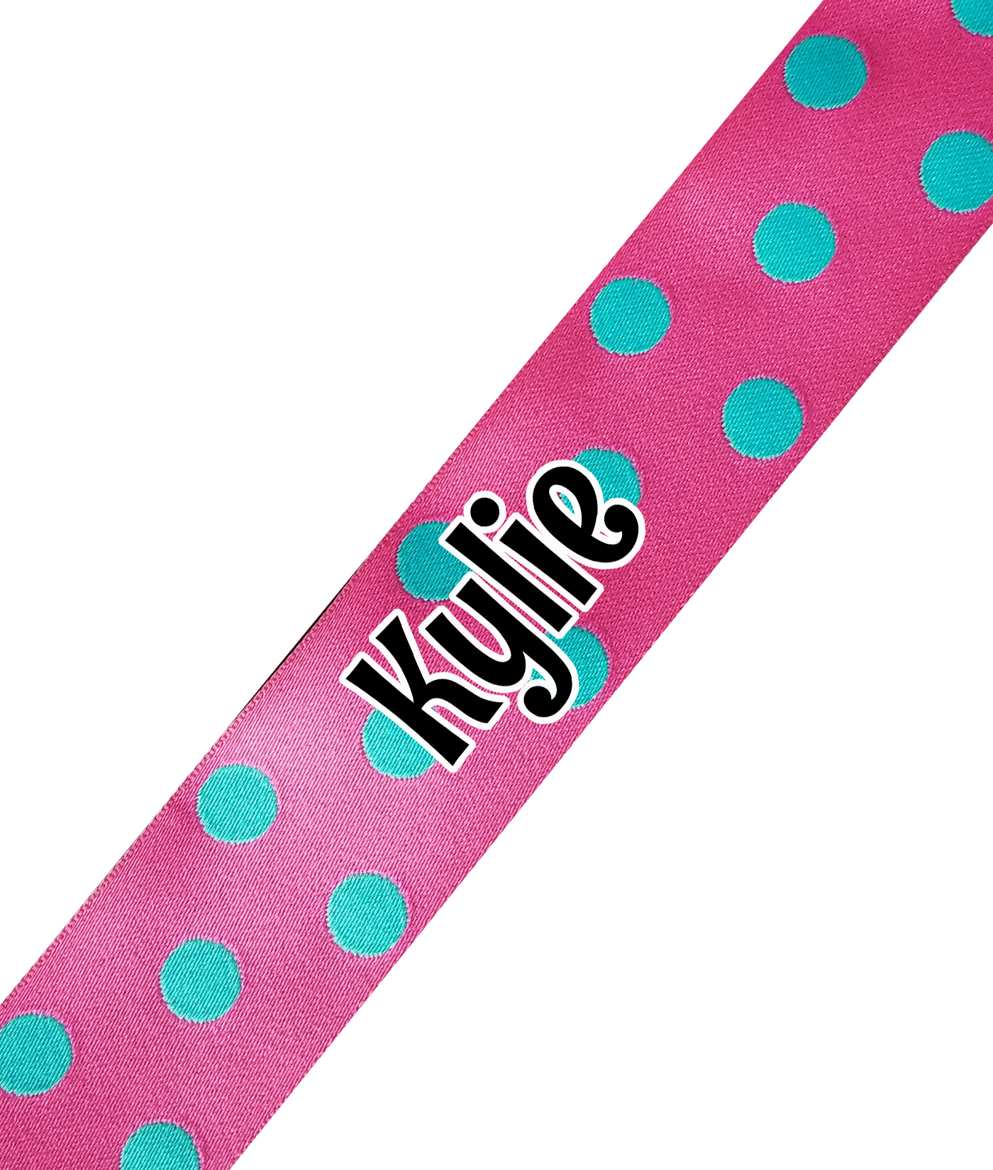 Pink with Blue Dots Print