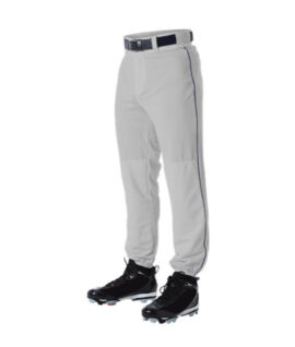 Silver with Navy Piped Baseball Pants