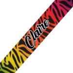 Rainbow Zebra Cursive