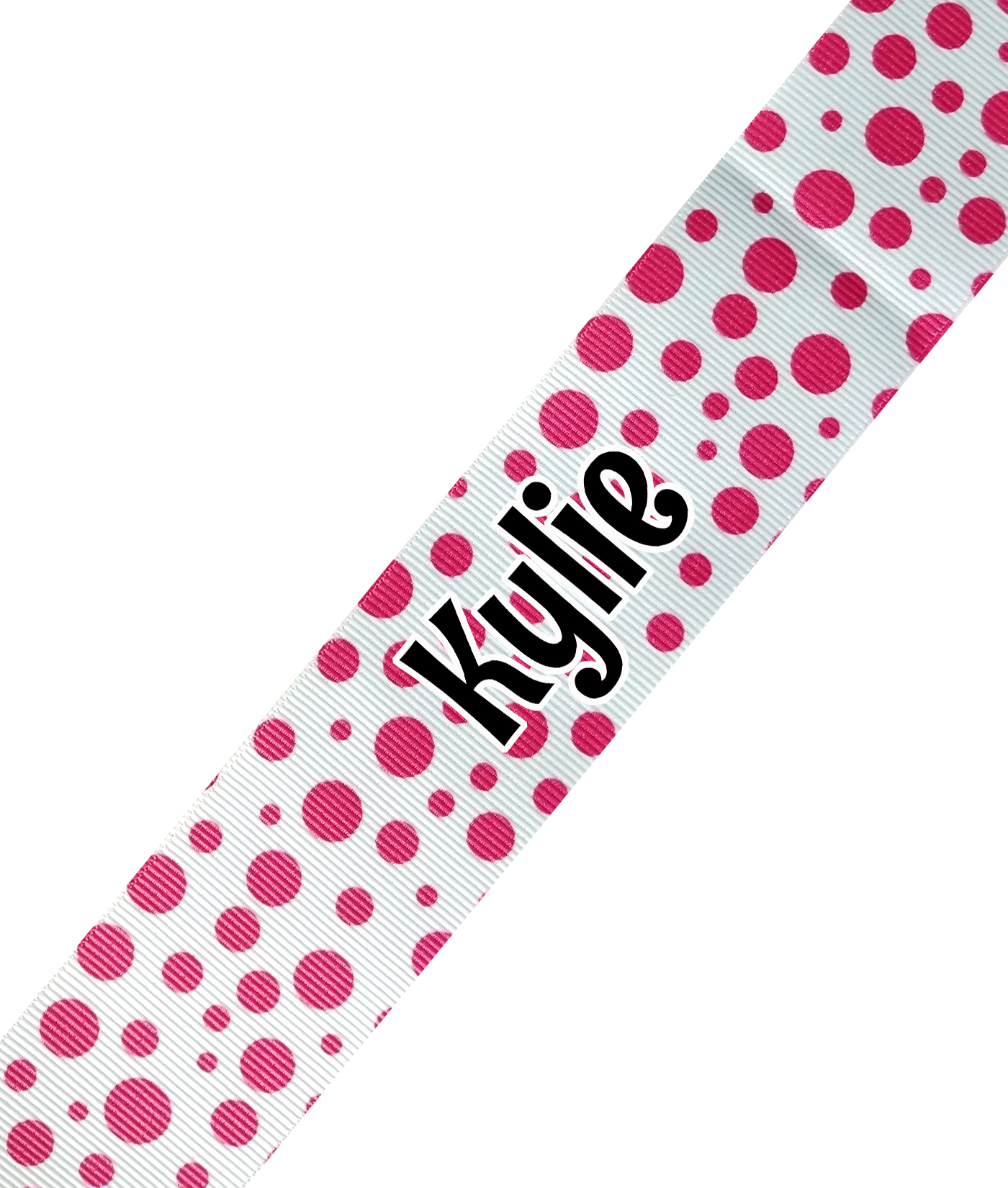 White with Small Multi Size Pink Dots Print