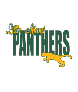 Panthers Running Cat Car Decal