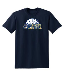 Bulldogs Half Volleyball_Navy Shirt