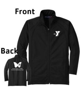 O_Monarchs All White Tricot Full Zip Jacket_Black