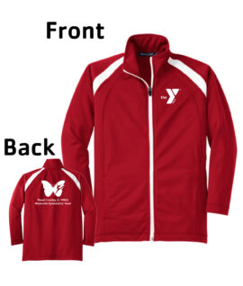 O_Monarchs All White Tricot Full Zip Jacket_Red