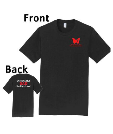 O_Monarchs Dad I Pay_Black T-Shirt