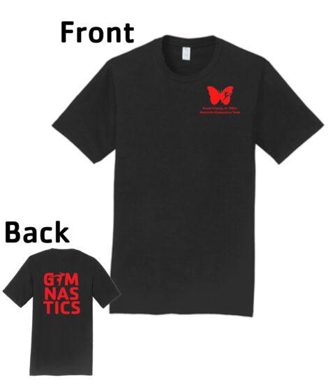 O_Monarchs Gymnast G MNASTICS_Black T-Shirt