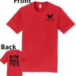 O_Monarchs Gymnast G MNASTICS_Red T-Shirt