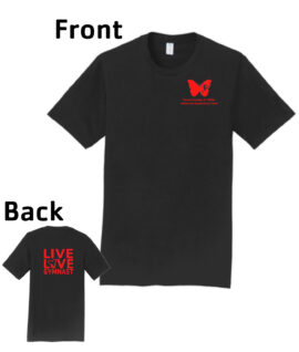 O_Monarchs Gymnast Live Love Gymnast_Black T-Shirt