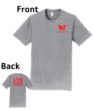O_Monarchs Gymnast Live Love Gymnast_Light Grey T-Shirt