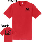 O_Monarchs Gymnast Live Love Gymnast_Red T-Shirt