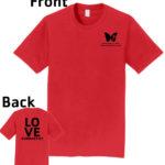 O_Monarchs Love Gymnastics_Red T-Shirt